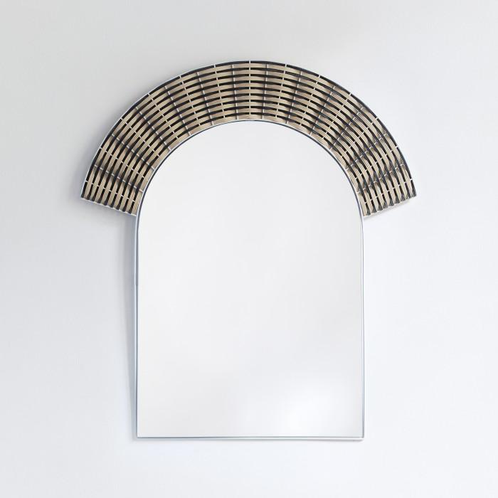 Miroir ARCHE - noir et naturel