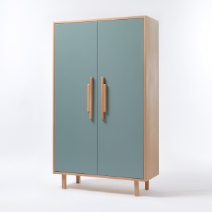 INVADER closet Blue oval blue - natural handles