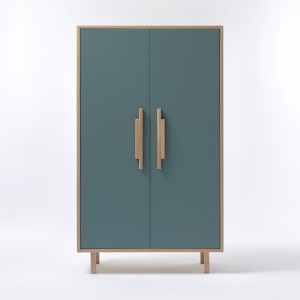 INVADER closet Inchyra blue - natural handles