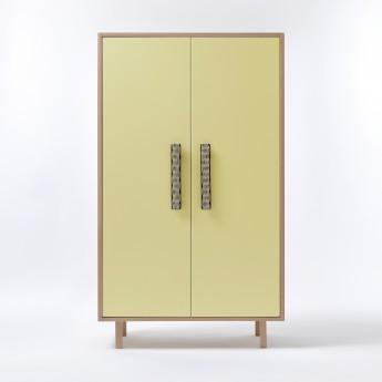 PAON closet yellow natural handles