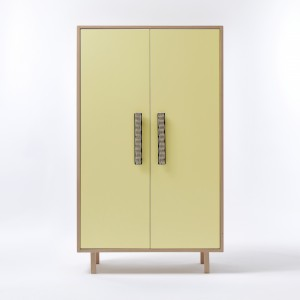 PAON closet yellow natural handles