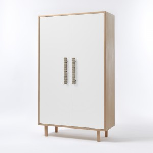 PAON closet white natural handles