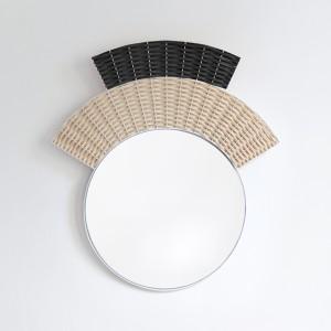 Miroir COIFFE - noir et naturel
