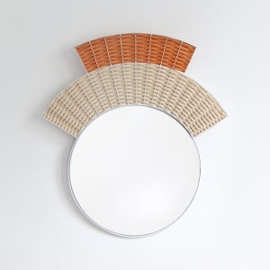 COIFFE mirror - coral and natural