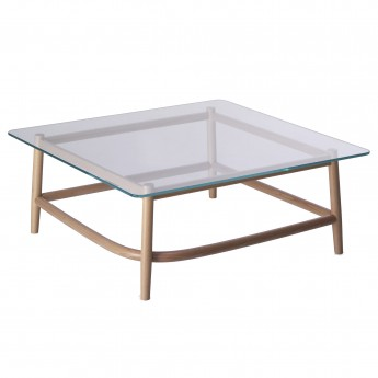 Coffee table SINGLE CURVE - Glass