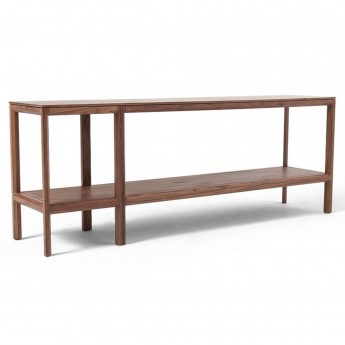 TRIESTE Long shelving unit - Walnut