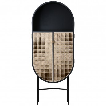 RETRO OVAL Cabinet - Black
