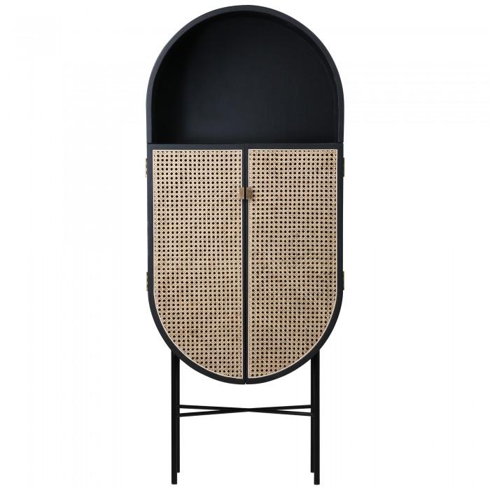 RETRO OVAL Cabinet - Black