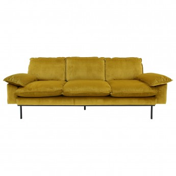 RETRO 3 seater sofa - Ochre velvet