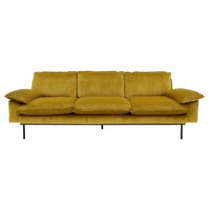 RETRO 4 seater sofa - Ochre velvet