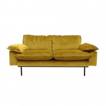 RETRO 2 seater sofa - Ochre velvet