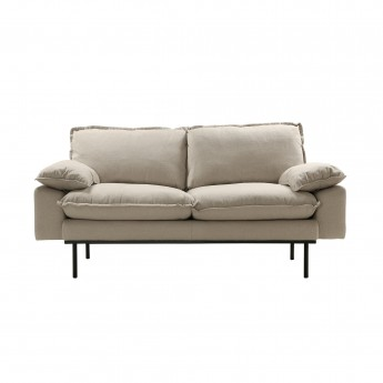 RETRO 2 seater sofa - Beige