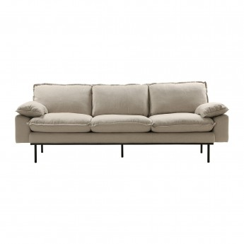 RETRO 3 seater sofa - Beige