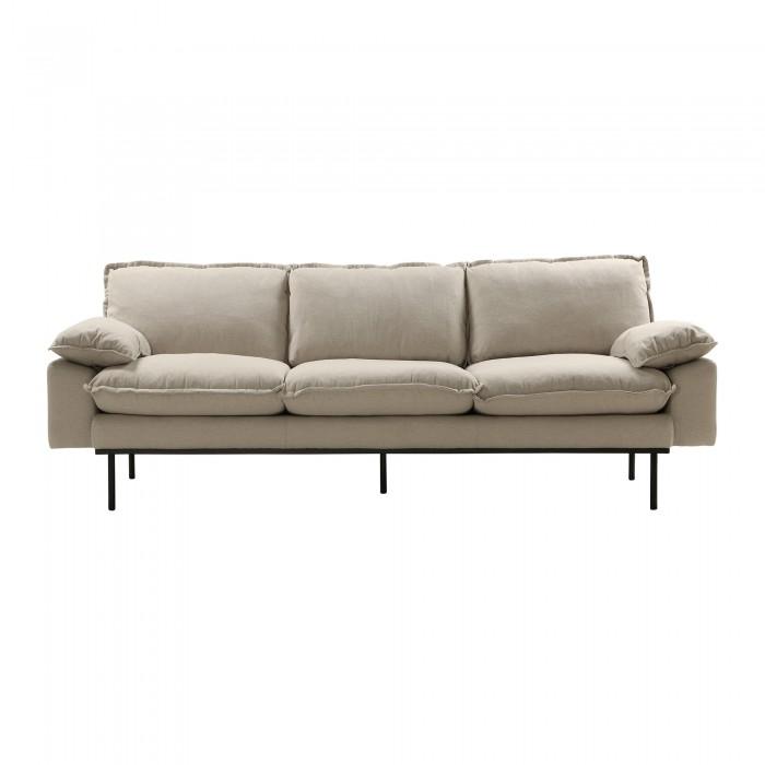RETRO 3 seater sofa - Beige