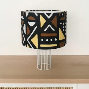 Lampe MAGIC tissu Brun/Jaune