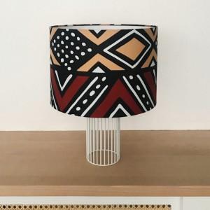 MAGIC Lamp Coral/Brown fabric