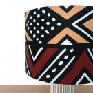 Lampe MAGIC tissu Corail/Brun