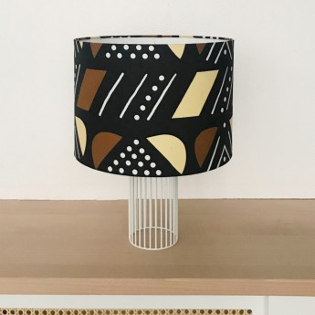Lampe MAGIC tissu Jaune/Brun