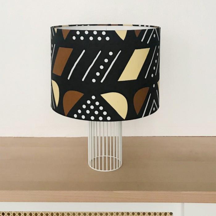 Lampe MAGIC tissu Jaune/Brun