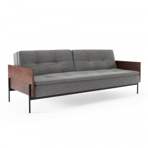 DUBLEXO sofa bed with wooden arms