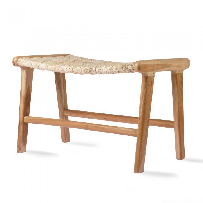 ABACA/TEAK Lounge ottoman