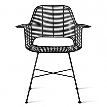 Armchair RATTAN - Black - Outdoor