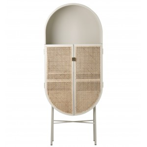 RETRO OVAL Cabinet - Grey