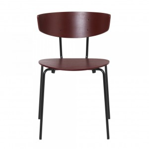HERMAN burgundy wooden chair