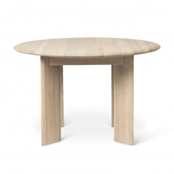 BEVEN round table white oiled oak