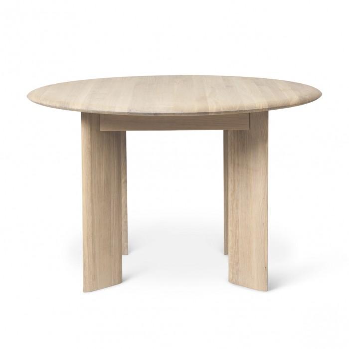 BEVEN round table white oiled oak