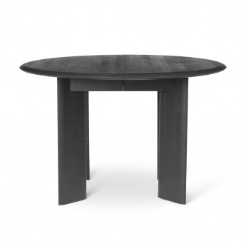 Table BEVEL ronde noir huilé