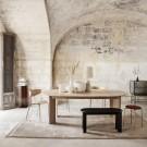 Table BEVEL extensible chêne clair