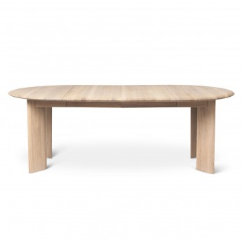 BEVEN rextendable table white oiled oak