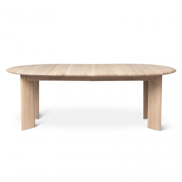 BEVEN rextendable table white oiled oak