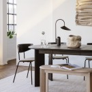 BEVEN extendable table black oiled oak