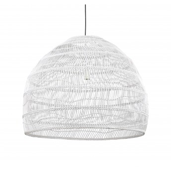 WICKER Hanging lamp ball - White
