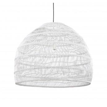 WICKER Hanging lamp ball - White