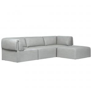 Canapé modulable WONDER - 3 places chaise longue