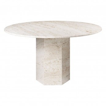 EPIC dining table - white travertine
