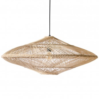 WICKER OVAL Hanging lamp