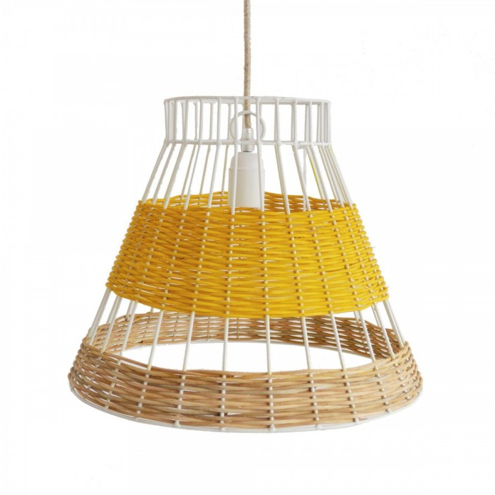STRAW canne yellow pendant lamp