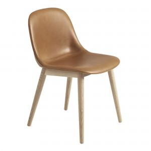 FIBER SIDE chair - Cognac leather