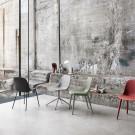FIBER SIDE chair - Wood base