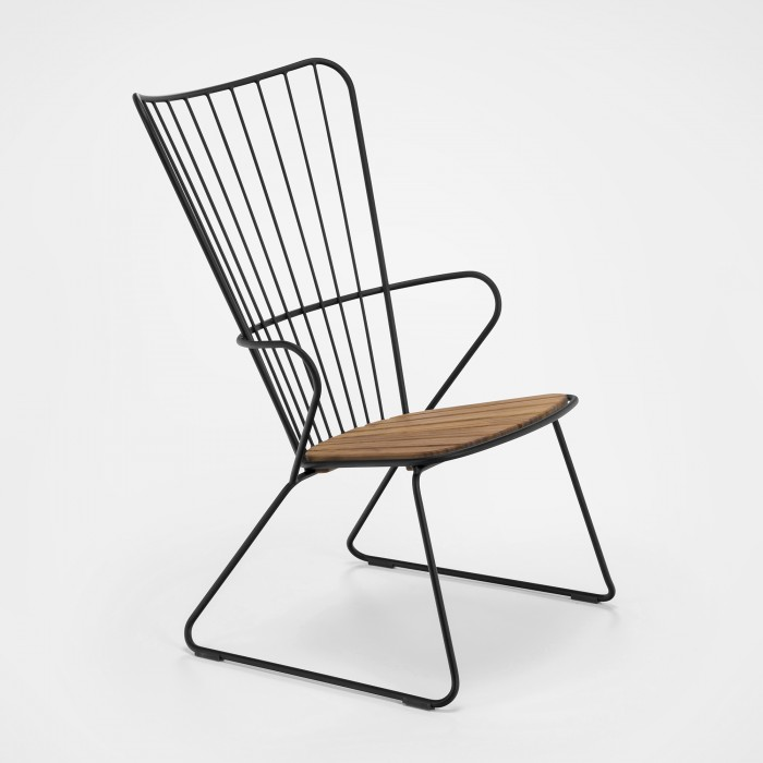 PAON lounge chair black
