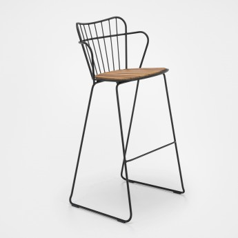 PAON bar stool black