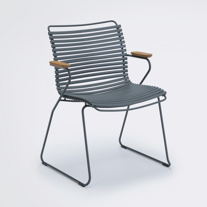 Chaise CLICK gris foncé