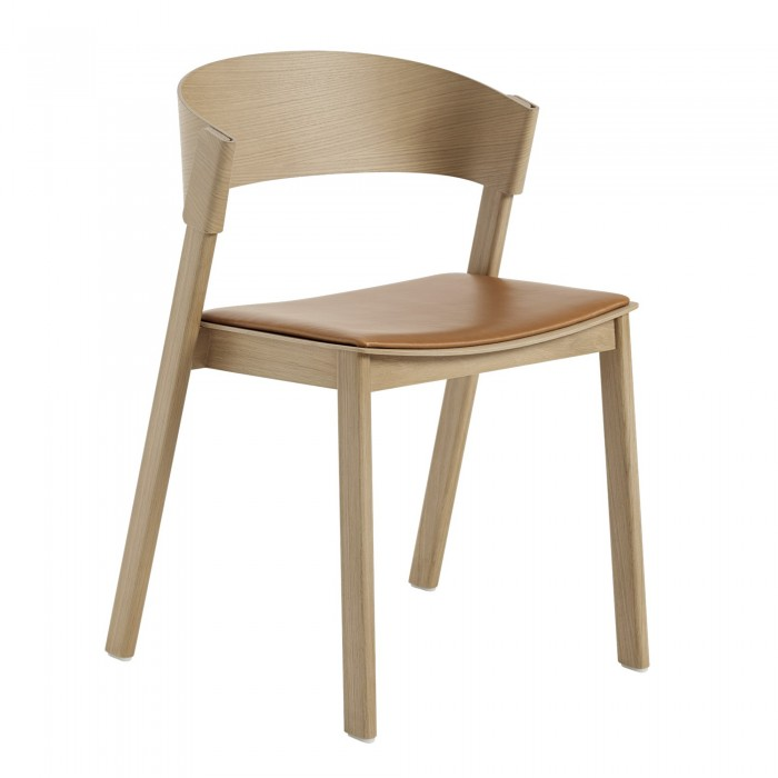 COVER SIDE chair - Leather seat