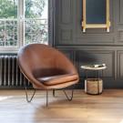 JOE COCOON DELUXE Armchair - Black steel
