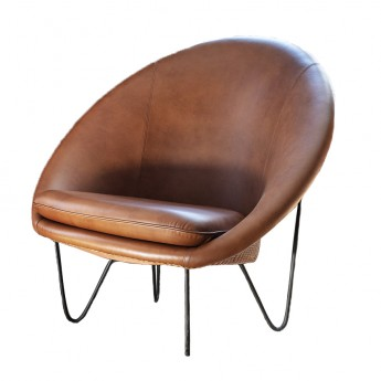 JOE COCOON DELUXE Armchair - Black steel