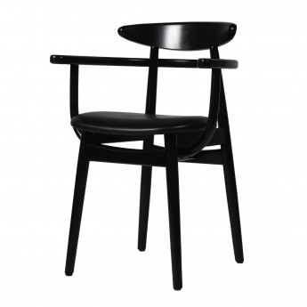 Chaise TEO - Cuir noir